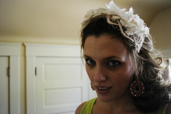 1940s Floral Headpiece