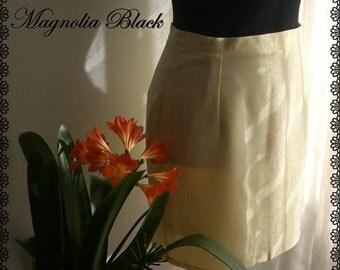 Yellow skirt gingham fabric-Magnolia Black