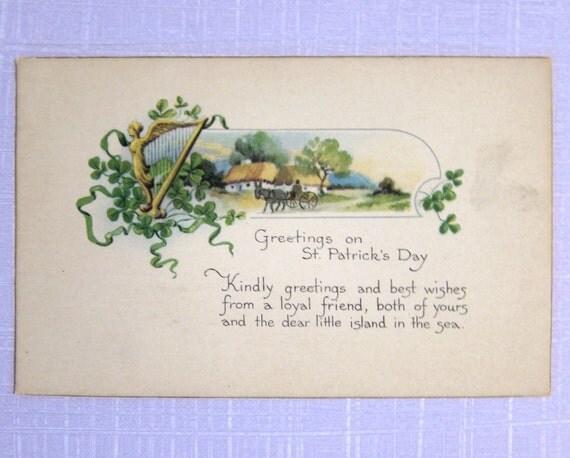 Beautiful St. Patrick's Day vintage postcard