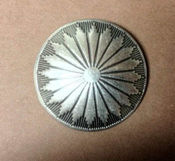 Silver Navajo Metal Concho Button, Native American Buttons, Southwestern buttons, Rustic country buttons,