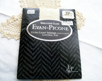 Vintage 1980s Pantyhose - Evan-Picone  - Executive Class -  Control Top - Size Small