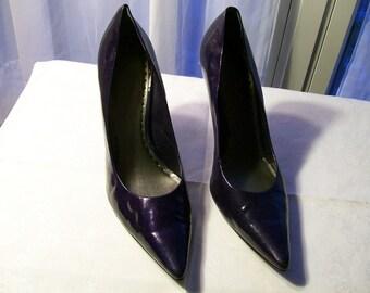BCB Girls Stiletto Pumps - Purple Blue - Size 10B/40 - Gently Worn - Court Shoes