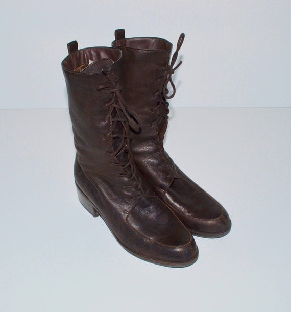 Vintage Brown Leather Boots by Enzo Angiolini