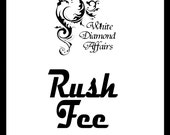 Rush Fee 2 day Turnaround Personalized Dress Hanger, Wedding Hanger, Bridesmaid Hanger,  Bridal Hanger,  Wedding favor, Wire Name Hanger