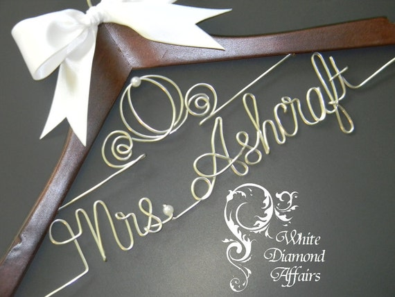 Cinderella Wedding Dress Hanger, Personalized Bridal Hanger, Personalized Bridal Gift - Rush delivery available