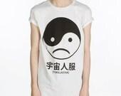 Yin Yang Sad Face T Shirt