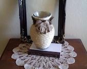 Rope and Burlap Vase