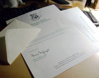 Hogwarts Acceptance Letter- Personalized
