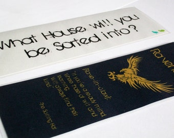 Navy and Bronze Eagle Wizarding School Double-Sided House Bookmark
