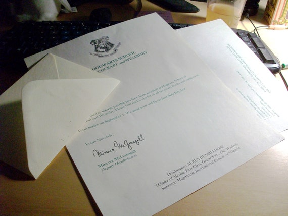 Hogwarts Acceptance Letter- Personalized