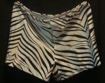 Gymnastics and Cheer Shorts - White Zebra