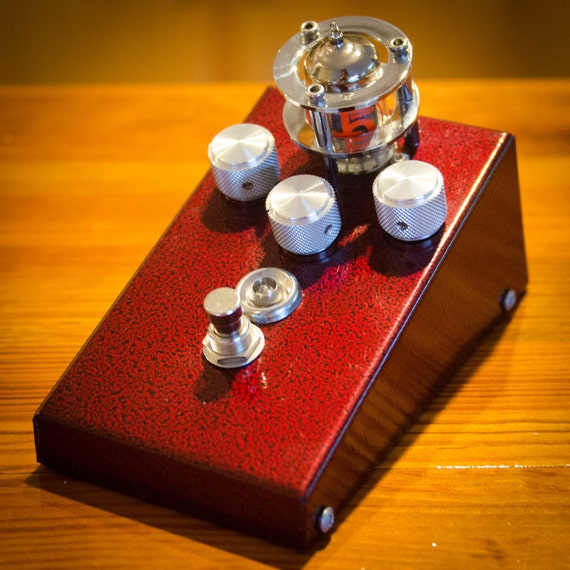 Vintage Tube Booster/Overdrive Pedal - Tons of Tones - Beautiful Enclosure - Custom Guitar Pedal by GnarHeel Pedal Co