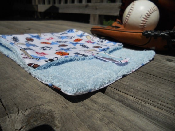 Baseball Terry Burp Cloth