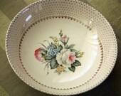 Vintage Salem 'Royal Rose Bouquet' Serving Bowl Trimmed in 23K Gold