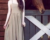 Vintage style cross strap detail low back dress. HerPony Custom Made
