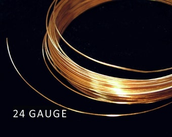 SALE Gold Vermeil Wire 24 gauge 1 Meters W1024