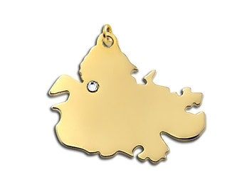 Gold Antigua charm