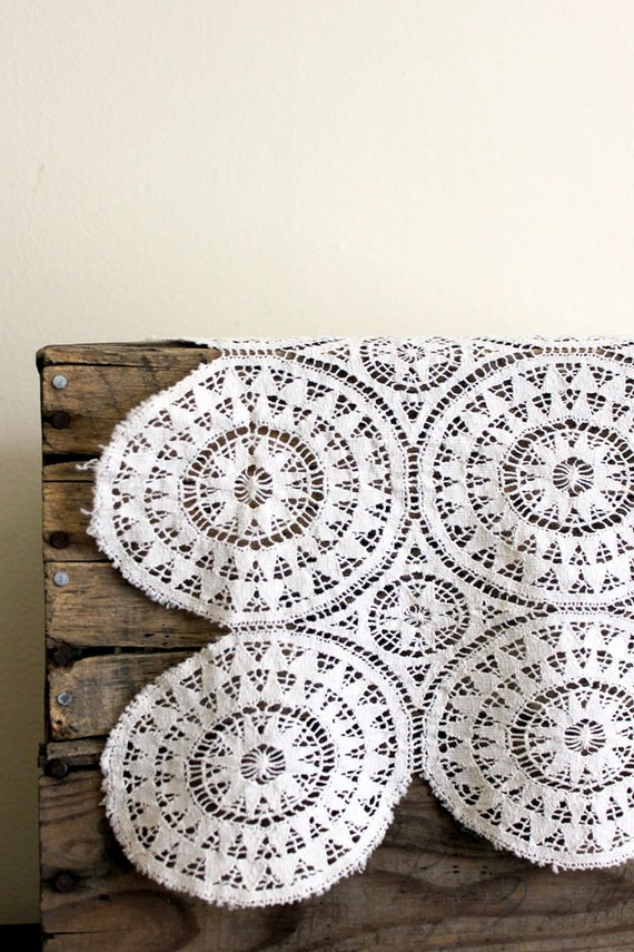 Vintage Doily - Lace with Circles and Geometric Pattern