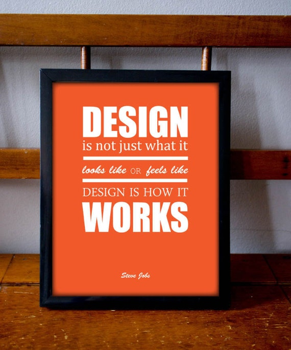 Items similar to inspirational poster steve jobs quote for Architecture quotes wallpaper