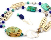 RESERVED for Aussieemjay - Cleopatra I - Beaded Necklace and Earrings Set