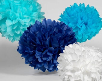 Tissue Paper Pom Poms Set of 15