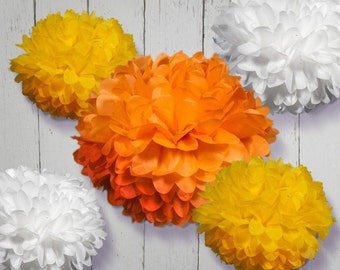 Tissue Paper Pom Poms - Set of 30 - Weddings//Receptions//Parties Decor//Baptism//Decorations
