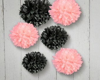Tissue Paper Pom Poms Set of 10 -- Choose your Colors