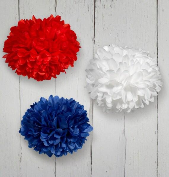 Tissue Paper Pom Poms Set of 3 - Choose your Colors