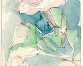 ACEO Original Watercolour Painting of Convolvulus
