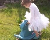 Tutu for Children UK, White Organza Skirt for ballet, birthday, wedding flower girl, fairy princess costume or dressup
