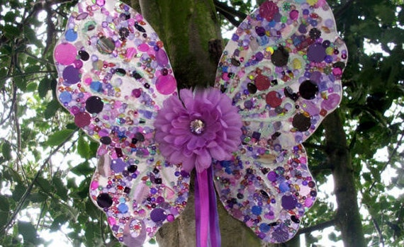 Purple Fairy Wings, sequined fairies wings, adult fairy costume, kids dress up, lilac fairy wedding, flowergirl, fancy dress accessory