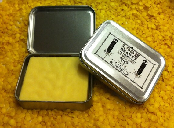 Solid Lotion Bar - family size 4 oz. all natural beeswax and shea. FREE shipping