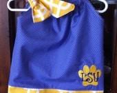 LSU pillowcase dress 0-2T