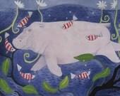 HIPPO  HOORAY     Limited edition giclee print