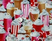 Hot Chocolate Heaven - Fabric By The Yard