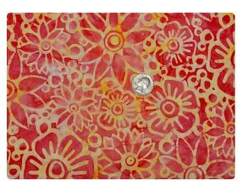 Batik Tie Dye Citrus Flower - Fabric By The Yard
