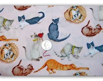 Sassy Cats - Fabric By The Yard
