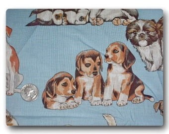 Puppy Cuteness - Fabric By The Yard