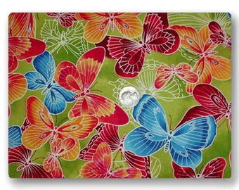 Big Rainbow Butterflies - Fabric By The Yard