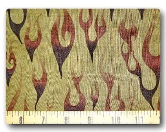 Camo Flames  - Fabric By The Half Yard 18 inches x 44 inches