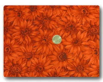 Red Daisy - Fabric By The Yard