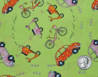 Now We're Going Places by Timeless Treasures - Fabric By The Half Yard 18 inches x 44 inches
