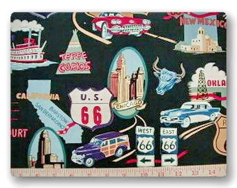 Retro Route 66 - 30 inches x 42 inches