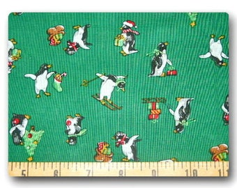 Christmas Penguin - Fabric By The Yard