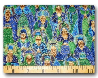 VHTF FQ 18x22 Three Wise Men in Blue and Green