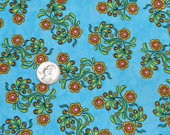 Sew Catty on Blue - Fabric By The Yard - H