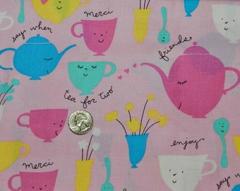 Tea Cups Pink - 28 inches x 44 inches  - H