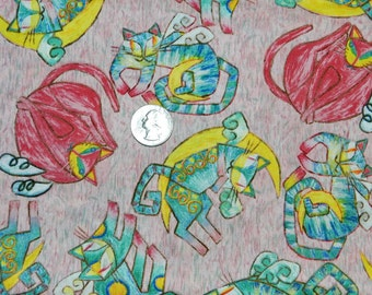 Abstract Cats - Fabric By The Yard