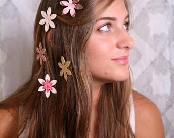 Bat Mitzvah gift, Hair magnets, Girls hair accessory, Pink hair accessory, Girls hair clips, Hair flowers, Hair clip, Girl gift, Magnetizers