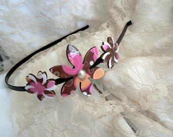 Brown headband, Hair accessories, Brown hair accessories, Flower headband, Flower accessories, Women headband,Women hair accessory,Headbands